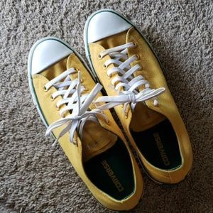 Yellow Converse Chucks men's sz 11 women's 13